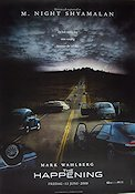 The Happening 2007 Movie poster Mark Wahlberg M Night Shyamalan