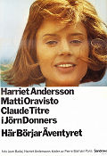 H�r b�rjar �ventyret 1965 Movie poster Harriet Andersson J�rn Donner