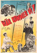 H�r kommer vi 1947 Movie poster Gunnar Bj�rnstrand