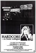Hardcore 1979 Movie poster George C Scott Paul Schrader
