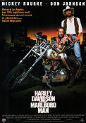 Harley Davidson and the Marlboro Man 1991 Movie poster Mickey Rourke Simon Wincer
