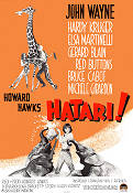 Hatari 1962 Movie poster John Wayne Howard Hawks