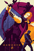 Limited litho HAWKEYE No 69 of 220 2012 poster