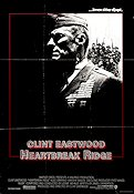 Heartbreak Ridge 1986 Movie poster Clint Eastwood