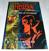 Hellboy Animated Sword of Storms DVD 2007 poster