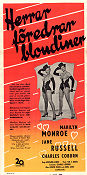 Gentlemen Prefer Blondes 1953 poster Marilyn Monroe Howard Hawks