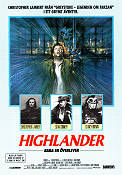 Highlander 1985 Movie poster Christopher Lambert