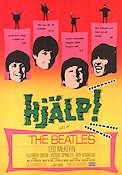 Beatles Help! Movie poster Sweden 1965