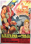 The Trojan War 1963 Movie poster Steve Reeves