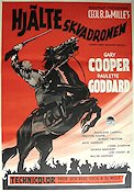 North West Mounted Police 1941 Movie poster Gary Cooper Cecil B DeMille