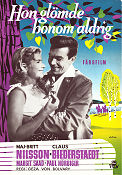 Was die Schwalbe sang 1957 Movie poster Maj-Britt Nilsson