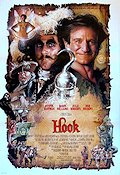 Hook 1991 Movie poster Robin Williams Steven Spielberg