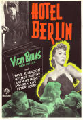 Hotel Berlin 1945 Movie poster Faye Emerson