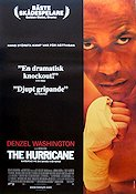 The Hurricane 1999 Movie poster Denzel Washington