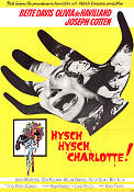 Hush Hush Sweet Charlotte 1965 Movie poster Bette Davis Robert Aldrich