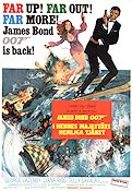 On Her Majesty´s Secret Service 1970 poster George Lazenby