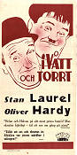 Blotto 1930 Movie poster Laurel and Hardy