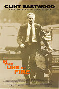 In the Line of Fire 1993 poster Clint Eastwood Wolfgang Petersen