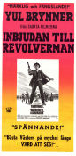 Invitation to a Gunfighter 1965 Movie poster Yul Brynner
