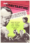 Incognito 1958 Movie poster Eddie Constantine