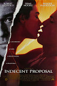 Indecent Proposal 1993 Movie poster Robert Redford Adrian Lyne