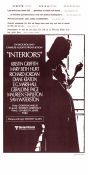 Interiors 1978 poster Kristin Griffith Woody Allen