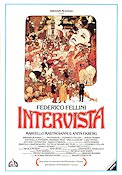 Intervista 1987 Movie poster Marcello Mastroianni Federico Fellini