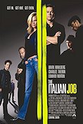The Italian Job 2003 Movie poster Mark Wahlberg