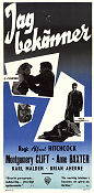 I Confess 1953 poster Montgomery Clift Alfred Hitchcock