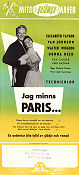 The Last Time I Saw Paris 1954 poster Elizabeth Taylor Richard Brooks