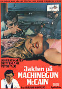 Jakten p� Machine Gun McCain 1969 Movie poster John Cassavetes Giuliano Montaldo