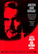 The Hunt For Red October 1990 Movie poster Sean Connery