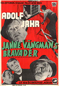 Janne Vängmans bravader 1948 Movie poster Adolf Jahr