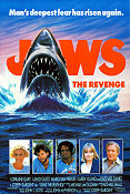 Jaws the Revenge 1987 poster Lorraine Gary Joseph Sargent