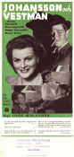 Johansson och Vestman 1946 Movie poster Wanda Rothgardt