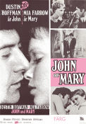 John and Mary 1969 Movie poster Dustin Hoffman Peter Yates