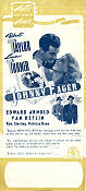 Johnny Eager 1941 Movie poster Robert Taylor Mervyn LeRoy