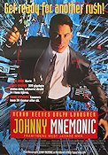 Johnny Mnemonic 1995 Movie poster Keanu Reeves