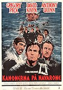 The Guns of Navarone 1961 Movie poster Gregory Peck