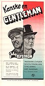 Kanske en gentleman 1951 Movie poster John Elfstr�m