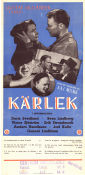 Kärlek 1952 Movie poster Doris Svedlund Gustaf Molander