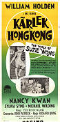 The World of Suzie Wong 1961 poster William Holden