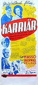 Karri�r 1938 Movie poster Signe Hasso