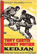 The Defiant Ones 1958 Movie poster Tony Curtis Stanley Kramer