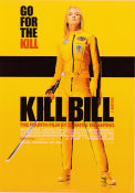 Kill Bill vol 1 2003 Movie poster Uma Thurman Quentin Tarantino
