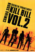 Kill Bill vol 2 2004 Movie poster Uma Thurman Quentin Tarantino