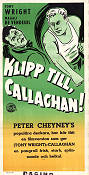 Plus de whisky pour Callaghan 1955 poster Tony Wright Willy Rozier