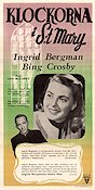 The Bells of S:t Mary 1945 poster Ingrid Bergman Leo McCarey