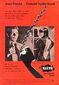 Klute en smart snut 1971 Movie poster Jane Fonda