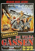 Kodnamn de vilda g�ssen 1985 Movie poster Lewis Collins